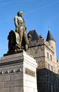 Lieven Bauwens Standbild in Gent, belgien