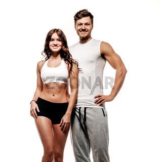 Athletic couple