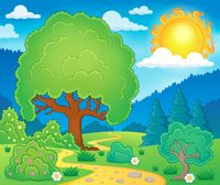 Spring topic scenery 3 - picture illustration.