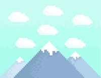 Mountain pixel art