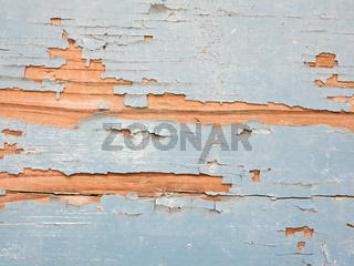 Holz mit abblätternder Farbe als Hintergrund