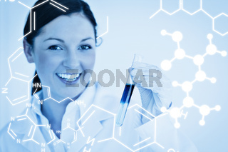 Composite image of science graphic