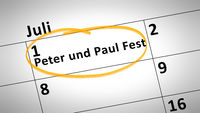 Peter and Paul Festival first of July in german language
