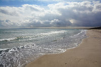 Beach of Juliusruh on Ruegen Island,baltic Sea,Mecklenburg Western Pomerania,Germany