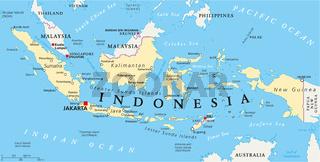 Indonesien Landkarte