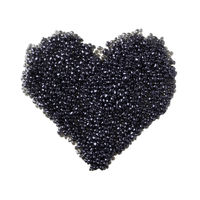 Back caviar heart