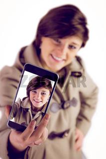 Cute woman using her phone
