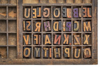 wood type printing blocks