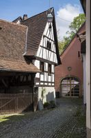Historic timber-frame house in the old town of Staufen