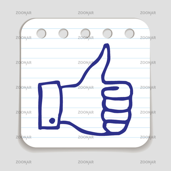 Doodle Thumbs Up icon.