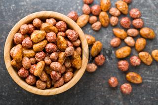 various sugared nuts