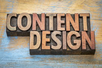 content design in wood type