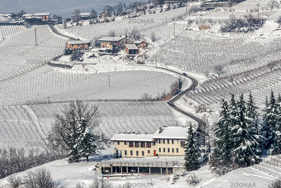 Italian rural wintry view.