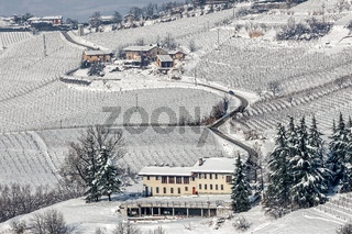 Italian rural wintry view.