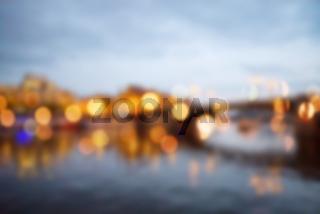Blured lights from night Prague