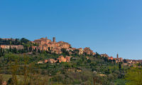Village of montepulciano in tuscany italy