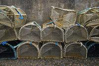 Empty fish traps, Gairloch, Scotland, Great Britain