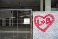 Heart with inscription, Budapest Hungary