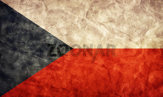 Czech Republic grunge flag. Vintage