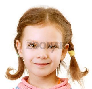 Portrait of little girl close up