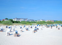 Beach of Ahlbeck on Usedom island,baltic Sea,Mecklenburg Western Pomerania,Germany