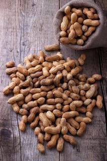 Peanuts in a sack