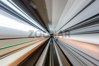 high speed movement in a tunnel