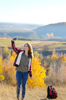 Selfie outdoors