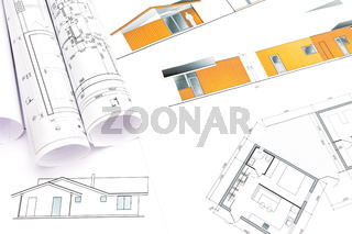 architectural rolls and plans