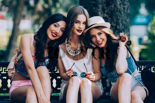 Three beautiful young girls