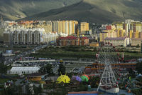 National Amusement Park and the new residential area, Ulaanbataar, Mongolia