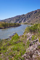River Katun near Chemal village, Altai, Russia