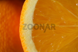 Close-up of orange ready for juicing