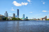 View of the Iset River and the Working Youth Olympic embankment. Ekaterinburg
