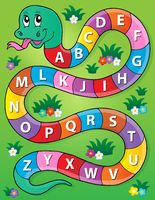 Snake with alphabet theme image 2 - picture illustration.