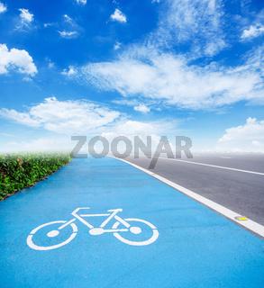 bicycle symbol lane.