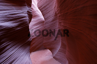 Reflection of light off the walls in Lower Antelope Canyon