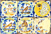 Old moorish ceramic tiles