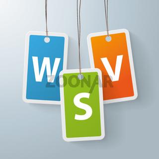 2 colored price sticker WSV