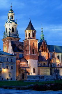 Wawel Royal Cathedral by Night in Krakow