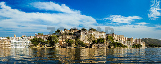 Panorama of City Palace. Udaipur, India