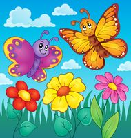Happy butterflies theme image 7 - picture illustration.