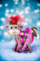 Merry monkey Holiday concept for New Years 2016