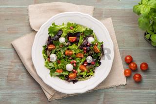Green salad on plate