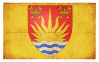 Grunge flag of Suffolk (Great Britain)