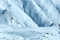Snowdrifts mountain winter view
