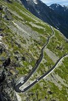 Haarnadelkurve auf der Trollstigen Passstrasse