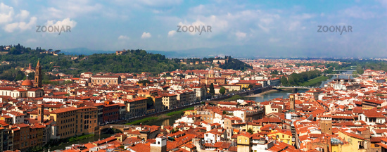 Panorama of florence tuscany italy