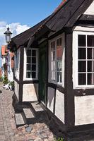 Houses in Ärösköbing on the Danish island of Aero