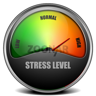 Stress Level Meter gauge